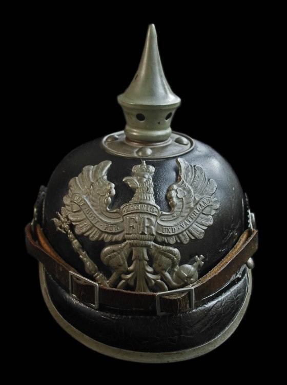 The iconic 'pickelhaube' or spiked helmet. (Image source: Peter Doyle)