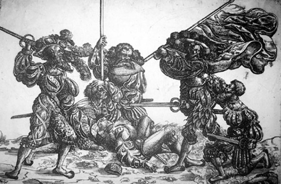Typical landsknecht mercenaries. (Image source: WikiCommons)