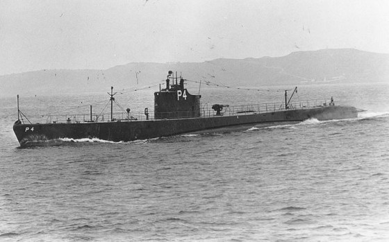 The USS Tarpon intercepted the German raider Michel off the coast of Japan. (Image source: WikiCommons)