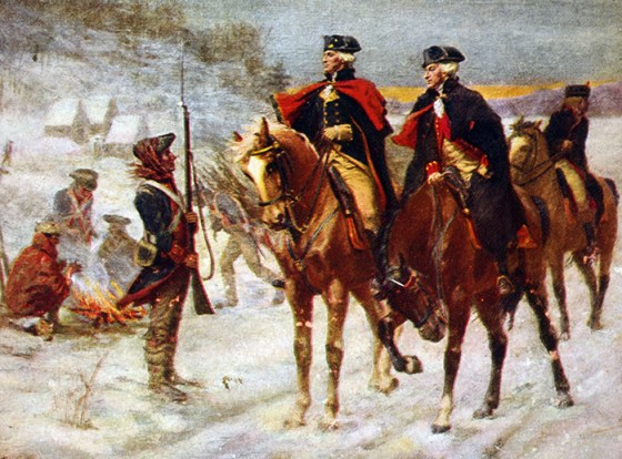 Lafayette and Washington at Valley Forge.