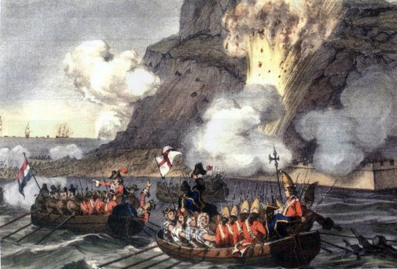 A landing party in action at Gibraltar. (Image source: WikiCommons)