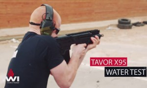 What happens if you put the TAVOR X95 through water, mud and sand tests?
