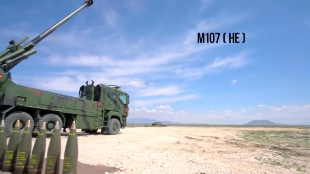 MKE Yavuz 155mm self-propelled howitzers