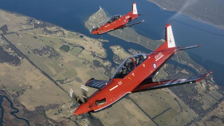 RAAF marks maiden 'in-service' flight of the Pilatus PC-21 trainer