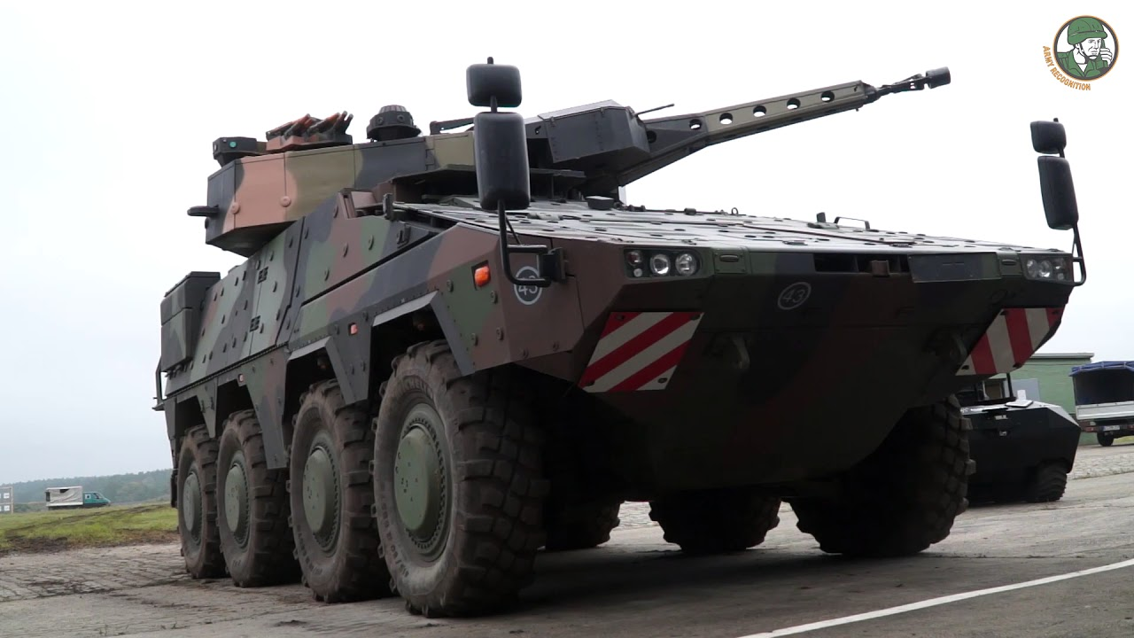 Boxer 8x8 armoured with Lance turret Rheinmetall infantry system demonstration Unterlüss Germany