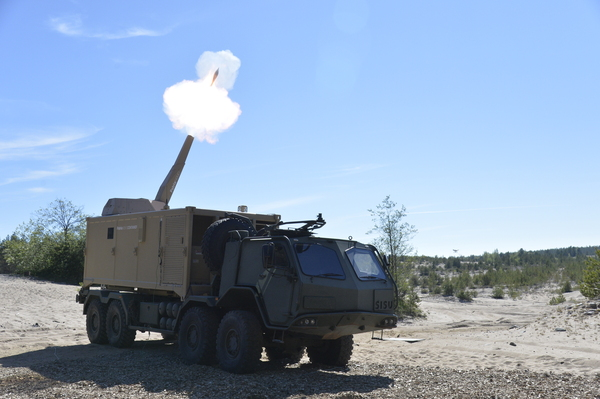 Patria Nemo 120 mm Mortar Container System