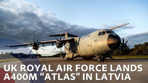 UK Air Force lands A400 ATLAS in Latvia