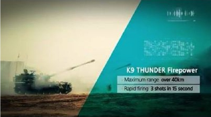 K9 Thunder self-propelled 155 mm howitzer