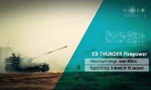 K9 Thunder self-propelled 155 mm howitzer