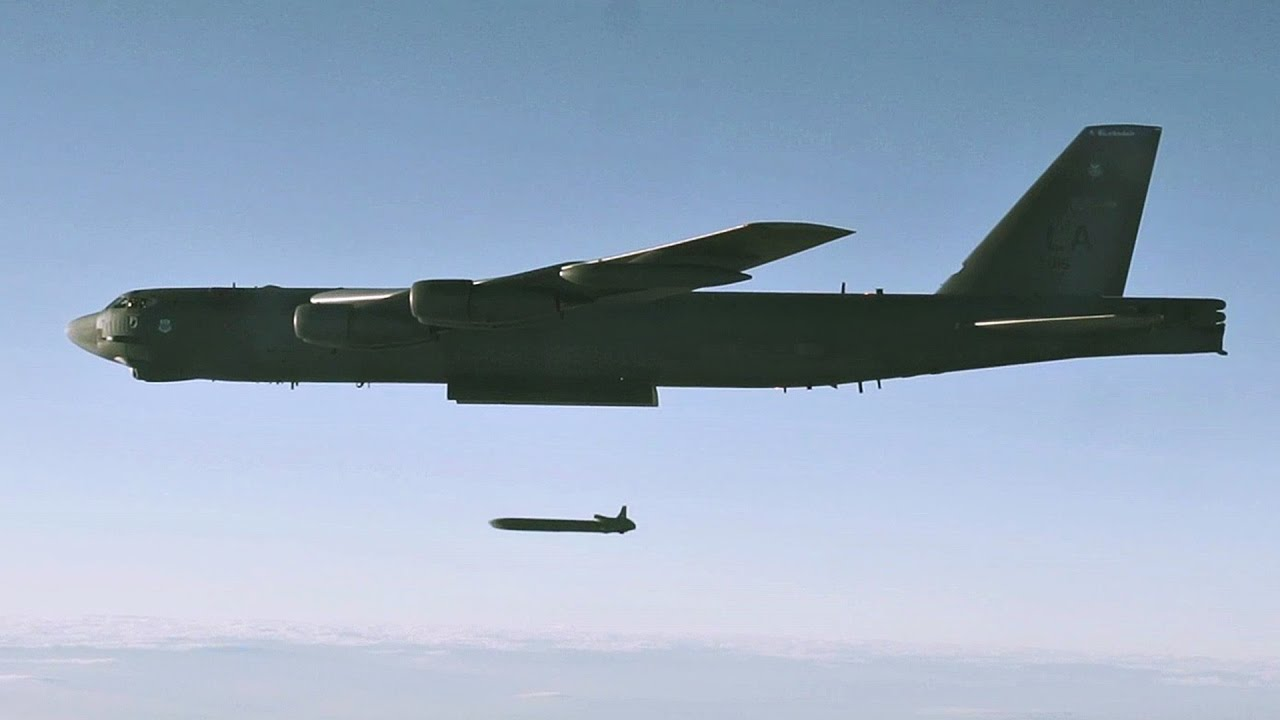 USAF B-52 Launching AGM-86B Air-Launched Cruise Missile