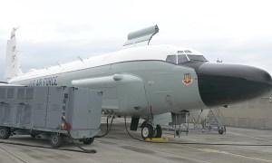 82nd Reconnaissance Squadron Prepares RC-135W Reconnaissance Aircraft For Mission