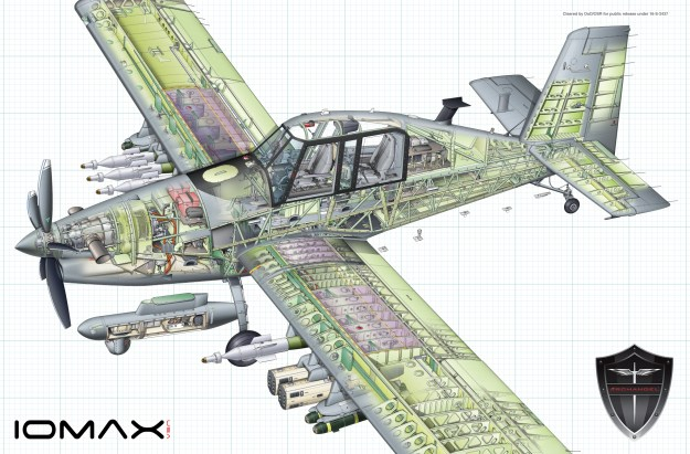IOMAX Archangel Counter-Insurgency Aircraft