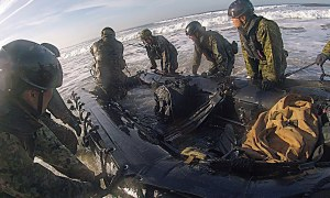 U.S. Marines And Japanese Soldiers Conduct Amphibious Landing Exercise