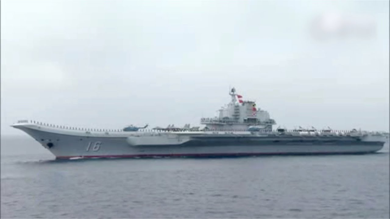 Chinese aircraft carrier Liaoning calls out for China's first homemade aircraft carrier to join it