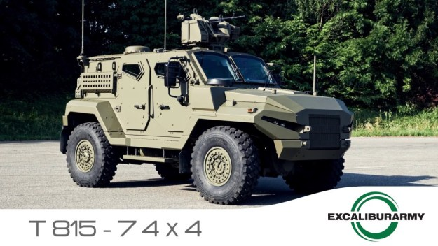 At Eurosatory 2018 Excalibur Army introduces brand new logo and armored vehicles
