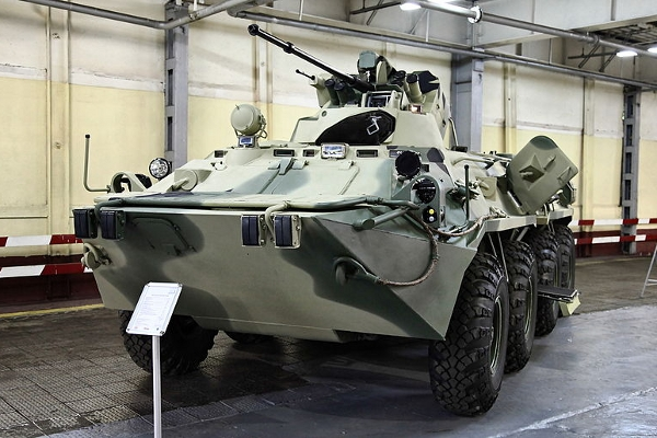 Russian troops receive new BTR-82A armored personnel carriers