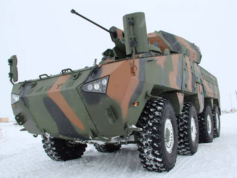 Barys 8x8 Combat Vehicle Tested in Kazakhstan Winter
