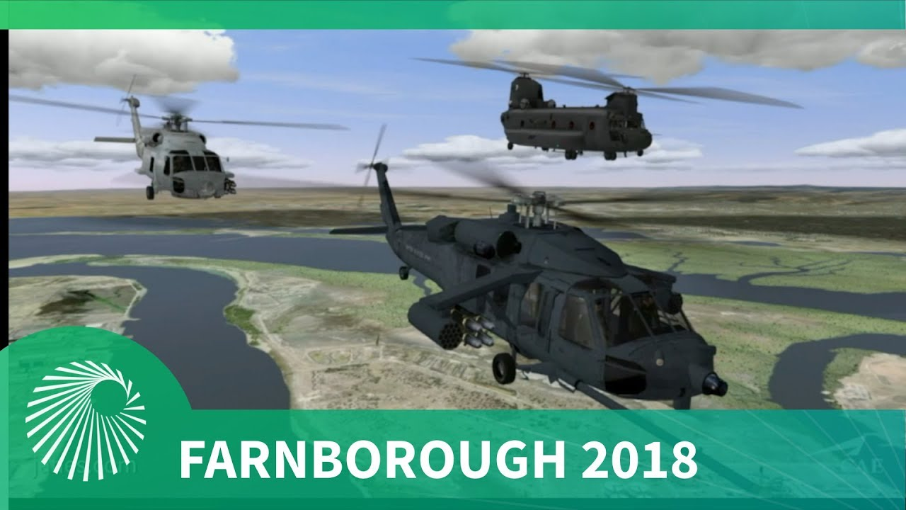 Farnborough 2018: CAE's NEW mission reality helicopter flight training device