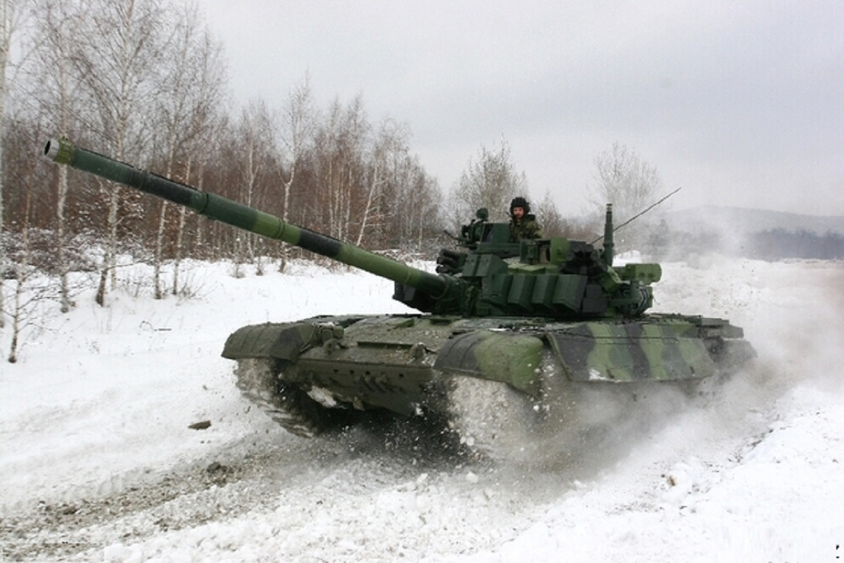 Czech Army T-72M4 CZ main battle tanks