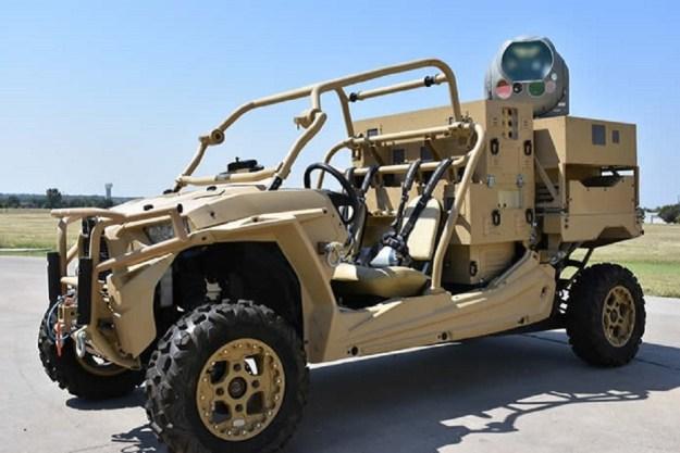 The MRZR HEL laser dune buggy