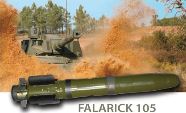 Falarick 105 Gun Launched Anti Tank Guided Missile (GLATGM)