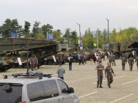 South Korean army APC tanks tactical combat vehicles APC air defense artillery DX Korea 2018