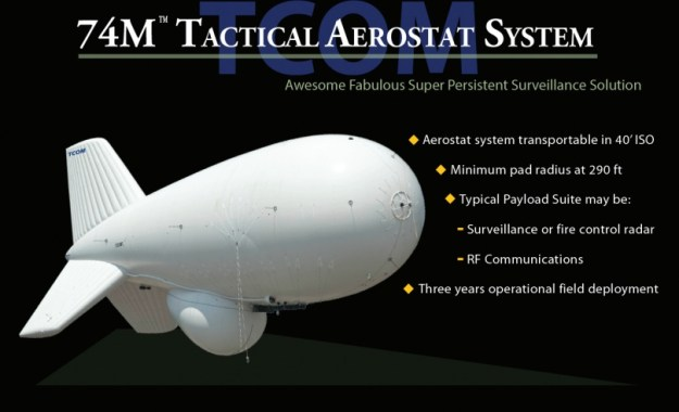 TCOM 74M Strategic Class Aerostat