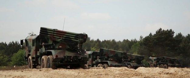WR-40 Langusta Multiple Rocket Launcher
