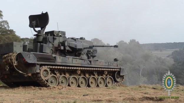 Brazilian Army Flakpanzer Gepard Self-Propelled Anti-Aircraft Gun