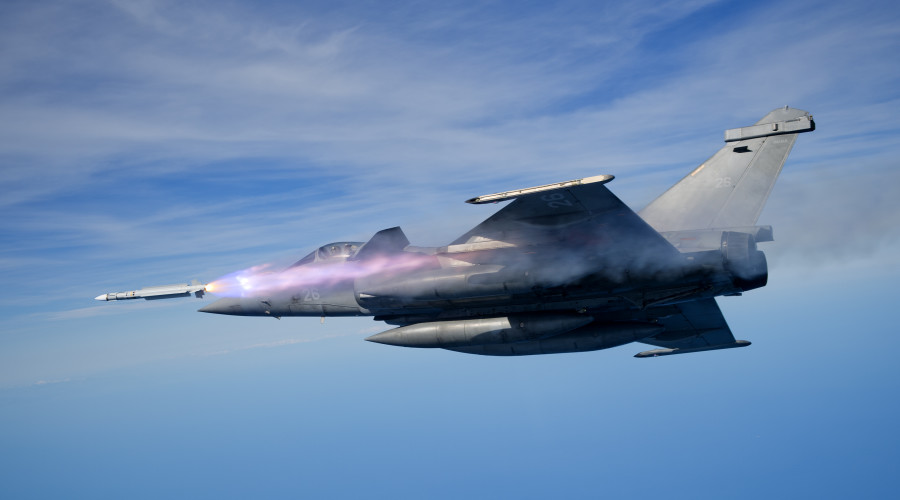 MBDA MICA Air-to-Air Missile fired from Dassult Rafale