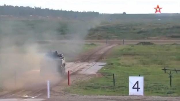 K-17 Bumerang firing Kornet-EM ATGM