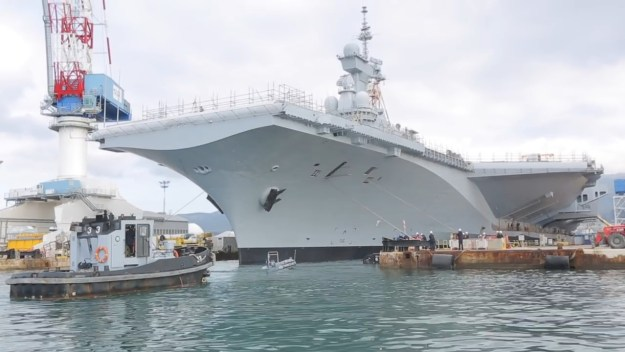 The mid life refit of the France Navy Charles de Gaulle aircraft carrier