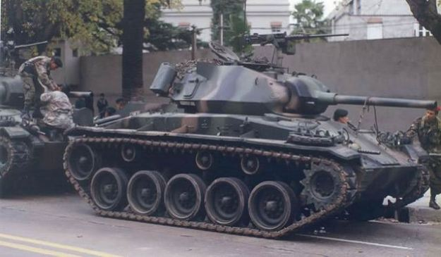 M24 Chaffee light tank of Uruguay Army