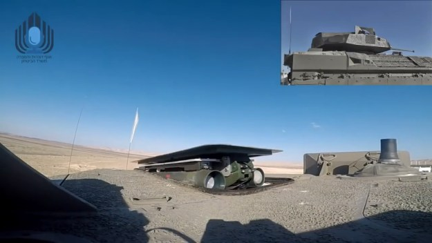 Israel's Namer Infrantry Fighting Vehicle test-fires Spike anti-tank missile