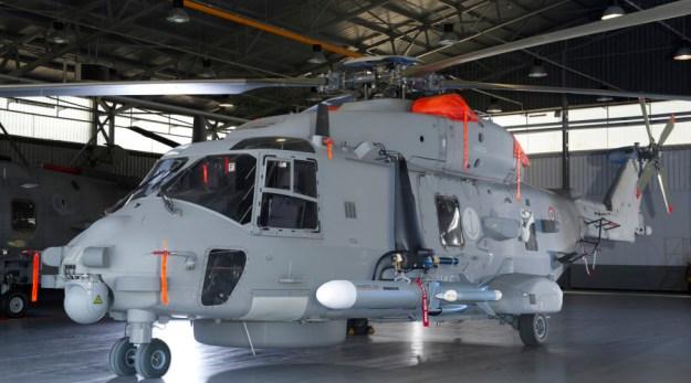 Marte ER on helicopter NH90