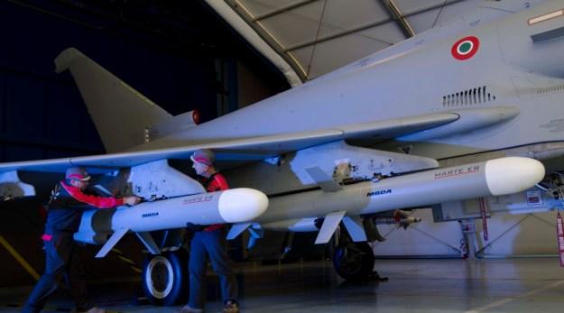 Marte ER on Italian Eurofighter Typhoon