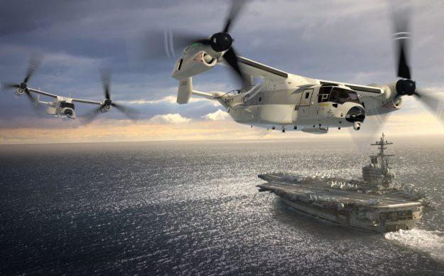 Artist's concept of CVM-22s in flight. Bell-Boeing Image