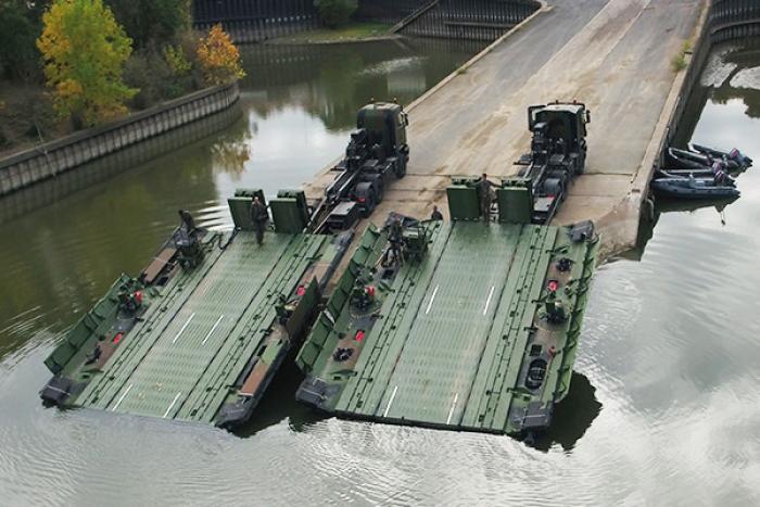 Upgraded PFM F2 Tactical Floating Bridge by CNIM
