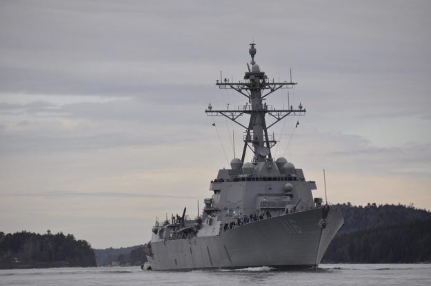 US Navy commissioning Arleigh Burke-class destroyer Thomas Hudner in Boston