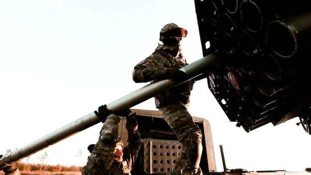 Croatian Army M-92 Vulkan Multiple Launch Rocket System