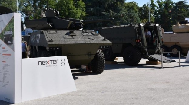 Nexter System pitching Titus and VBCI 2 T40 wheeled armoured vehicles in Bulgaria