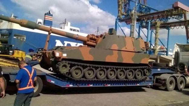 U.S. government donates M109A5+BR SPHs to Brazilian Army