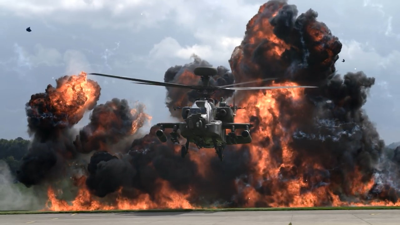 British Army Air Corps Attack Helicopter Display Team
