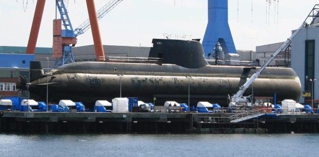 Greek submarine S-120 Papanikolis (214 type) at HDW at Kiel
