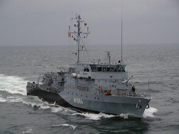 German Navy Grömitz Frankenthal-class mine hunter