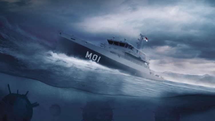 Indonesian Navy Abeking & Rasmussen Mine Countermeasures Vessel