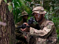 Royal Marines train in Belize jungle