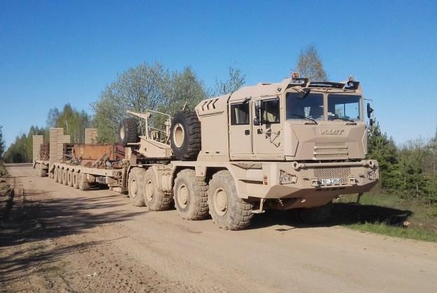 Belarusian MZKT-741351 heavy tank transporters