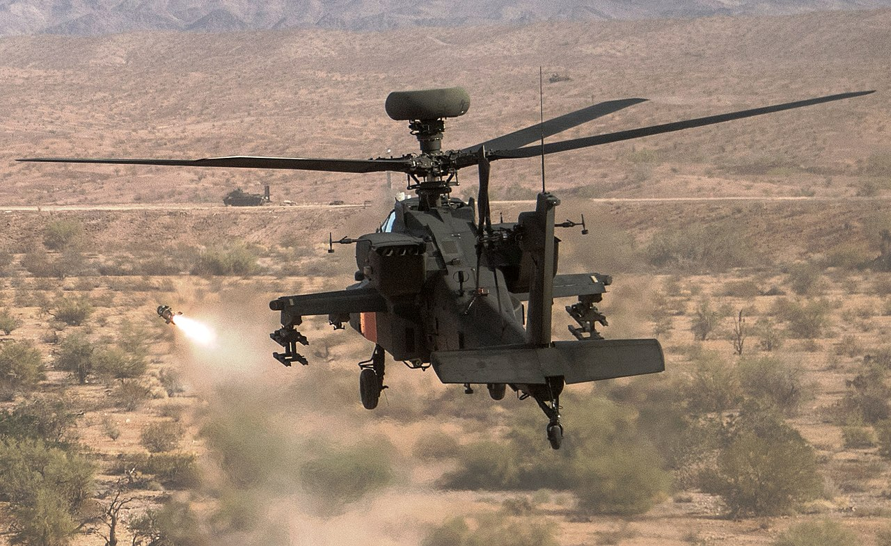 U.S. Army testing of the Joint Air-to-Ground Missile (JAGM) via an AH-64 Apache Longbow at Cibola Range, Yuma Proving Ground