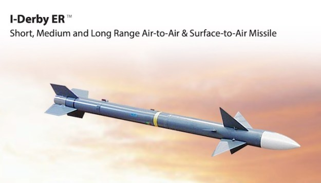Rafael Advanced Defense Systems I-Derby ER (extended range) beyond-visual-range air-to-air missile (BVRAAM)